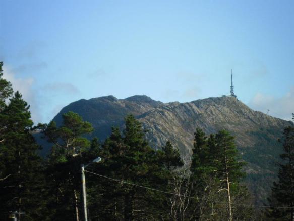 Mountain in bergen norway