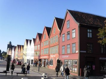 some of the oldest Buildings in bergen from the 12th century