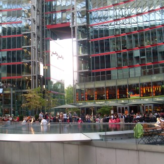 *Inside the Sony Centre*