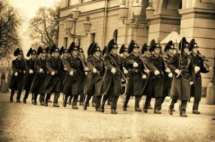 *Military Parade at Oslo Royal Palace, Norway*