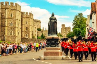 *Ceremonial Castle Parade in London*
