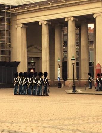 *The Danish Royal Guards at the Palace*